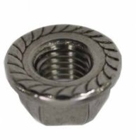 Schletter M10 Serrated Flange Nut with integrated anti-twist device in the Flange