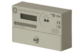 Landis & Gyr Single Phase Total Generation Meter, 100A with Pulse Output