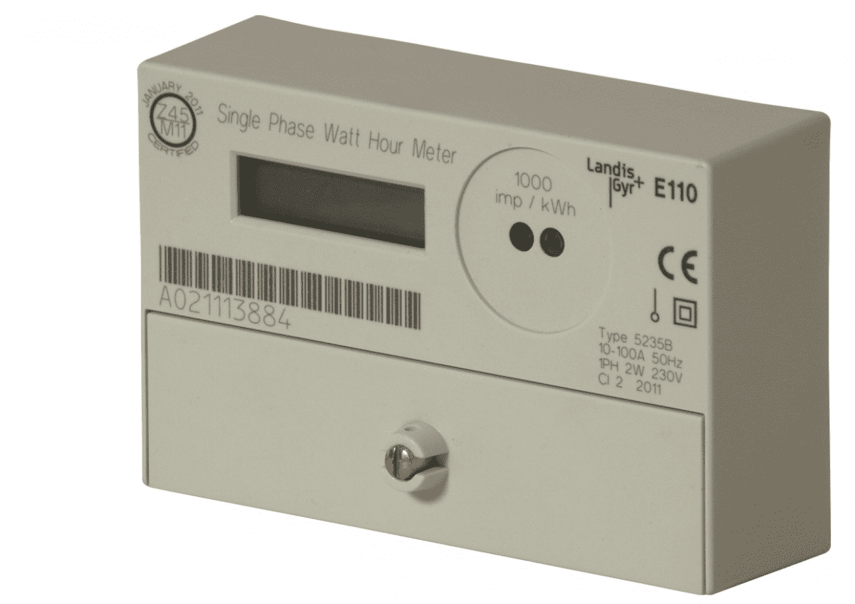 Landis & Gyr Single Phase Total Generation Meter, 100A with