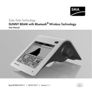 Sunny Beam with Bluetooth User Manual