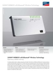 Sunny Webbox with Bluetooth Data Sheet
