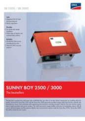 SunnyBoy SB2500-2800i-3000 Data Sheet