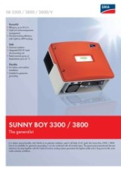 SunyBoy 3300-3800 Data Sheet