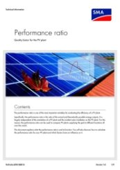 SMA Performance Ratio