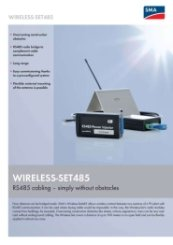 SMA Wireless-set 485 Data Sheet