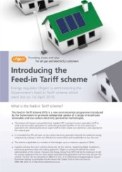 Ofgem Introducing Feed-in Tariff Scheme