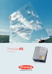 Fronius IG Range Catalogue