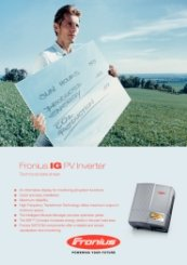 Fronius IG Range Data Sheet