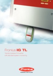 Fronius IG TL Range Catalogue