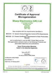 Sharp MCS Certification
