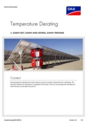 Temperature Derating SMA Inverters