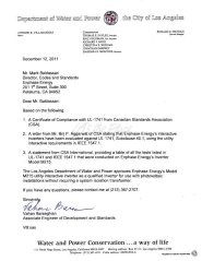 M215 Microinverter LADWP Approval Letter