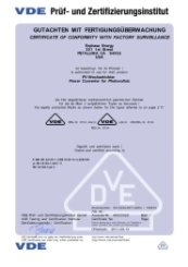 M215 Microinverter VDE License (Part 1)