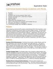 M215 Microinverter Commercial System Design