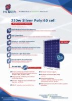 250w Silver Poly -60 CELL Datasheet