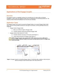 Applications of the Engage Coupler