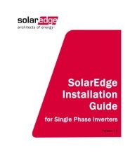 Installation Manual for Single Phase Inverters