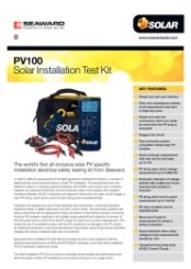 PV100 Test Kit Datasheet
