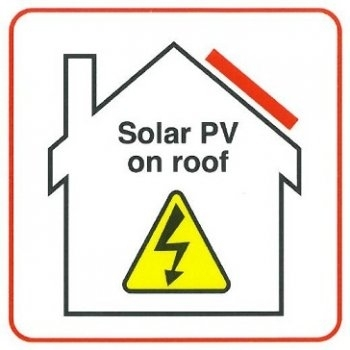 Solar PV on Roof Label